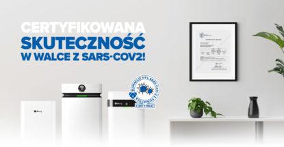 Certyfikowana skuteczność w walce z SARS-CoV2!